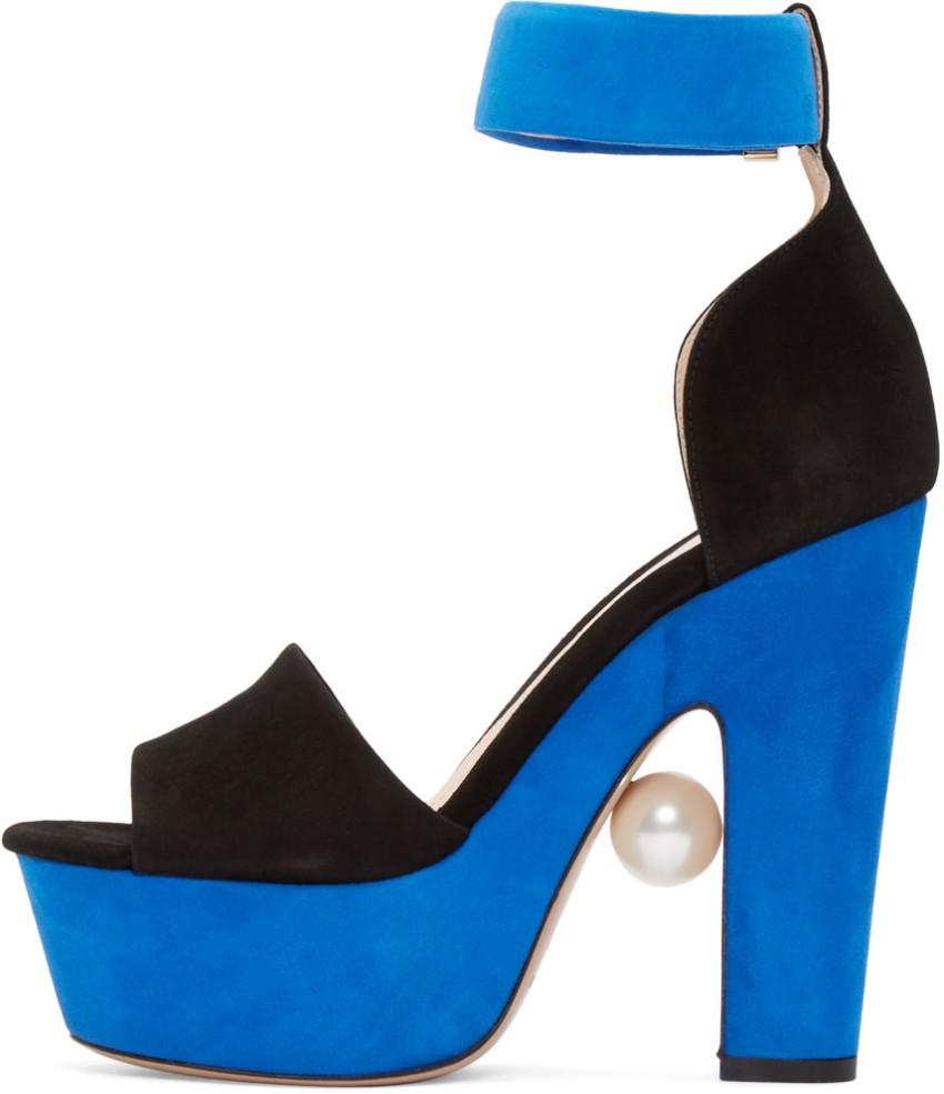 Nicholas Kirkwood Maya Two-Tone Pearl Sandals