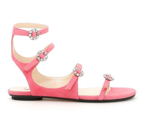 Jimmy Choo Flamingo Pink Naia Sandals
