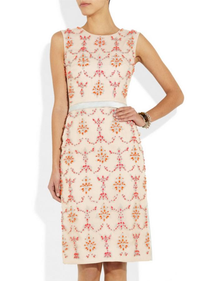 Erdem embellished silk Mallory Dress