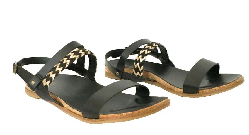 Ugg Chevron, Black & Gold Sandals
