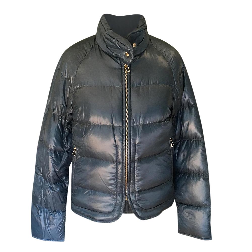 Hermes Blue Puffer Jacket