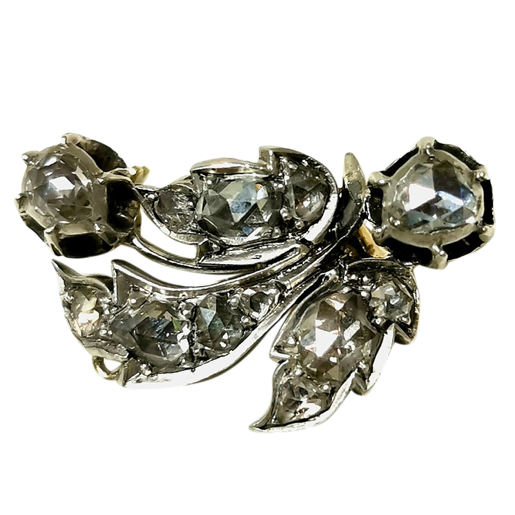 Bespoke Georgian Diamond Set Brooch
