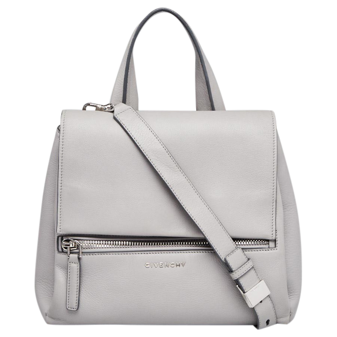Givenchy Grey Leather Pandora Pure Bag