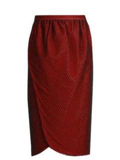 Emilio De La Morena Salma wrap-front knee-length skirt