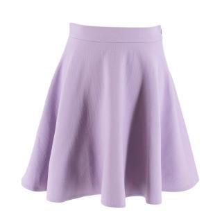 Miu Miu Lilac Wool Skater Skirt