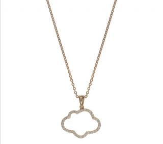 Prianka Chopra cloud with silver lining necklace