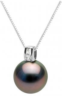 Bespoke Tahiti Pearl & Diamond Pendant Necklace