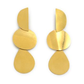 Luis Cano Chain Eclipse Gold Earrings