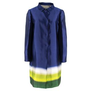 Prada Silk Blue/White/Green Degrade Coat