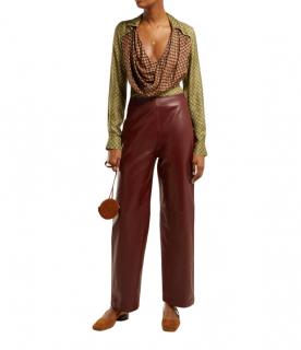Jacquemus Saabi cowl-neck satin blouse