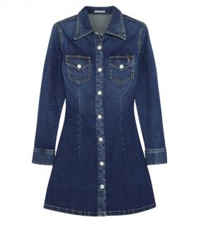 Alexa Chung x AG Jeans Denim Mini Shirt Dress