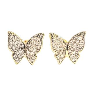 Bespoke Handmade Butterfly Diamond Earrings