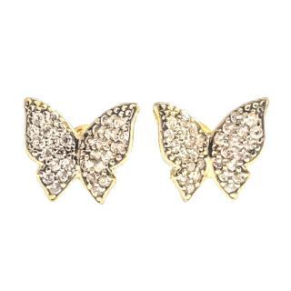 Bespoke Handmade Butterfly Diamond Earrings