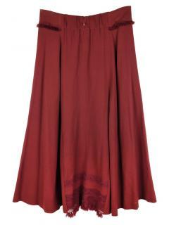 Issey Miyake Haat Embroidered Skirt.