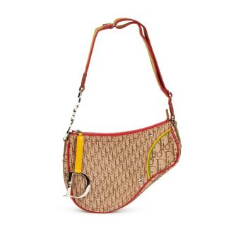 Dior Monongram Rasta Saddle Shoulder Bag