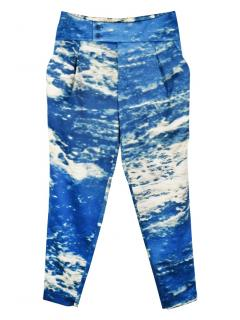 Issey Miyake Tapered Printed Trousers