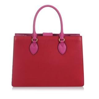Gucci Bicolor Leather Linea A Satchel
