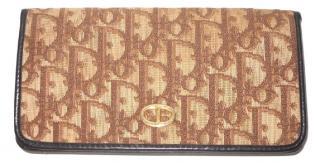 Dior Oblique Monogram Vintage Brown Wallet