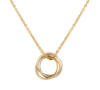 Cartier Trinity Yellow, White & Rose Gold 18K Necklace