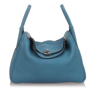 Hermes Clemence Leather Lindy 30 Tote