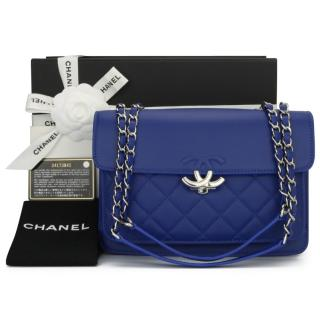 Chanel Blue Caviar Leather Urban Companion Mini Flap