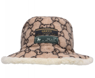 GUCCI Wool All Over Print Bucket Hat