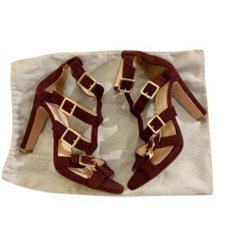 Bionda Castana plum suede heeled sandals