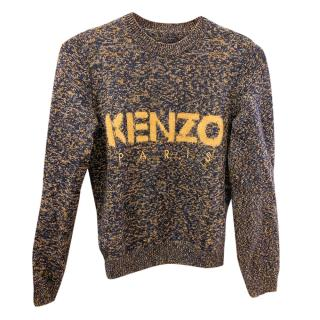 Kenzo Blue & Yellow Knit Logo Jumper