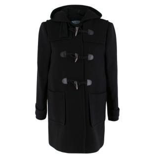 Prada Black Wool Duffle Coat