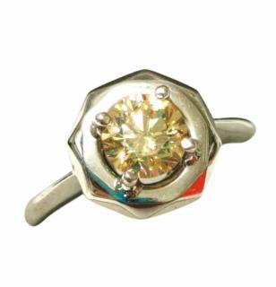 Cred Bespoke 1ct Yellow Diamond Solitare Ring