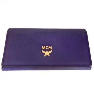 MCM Purple Leather Bi-Fold Wallet