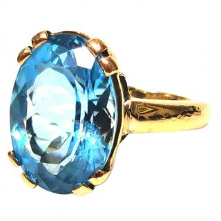 Bespoke 15ct Topaz Solitaire Cocktail Ring