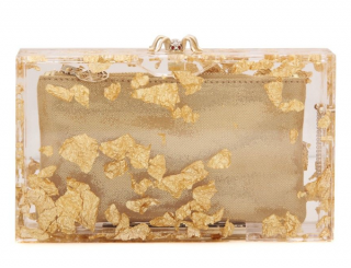 Charlotte Olympia Gold Foil Pandora Clutch