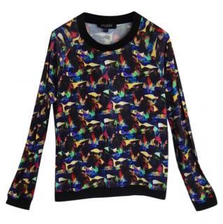 Saloni patterned stretch jersey top