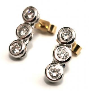 Bespoke diamond trilogy earrings