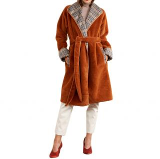 Kitri Finley Ginger Reversible Teddy Coat