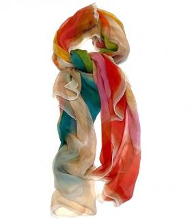 Chanel Silk Multicoloured Large Shawl