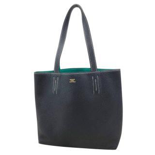 Hermes Blue Paon & Blue Indigo Double Sens Shoulder Bag