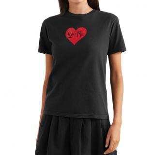 Alexa Chung Black 'Love Me' T-Shirt