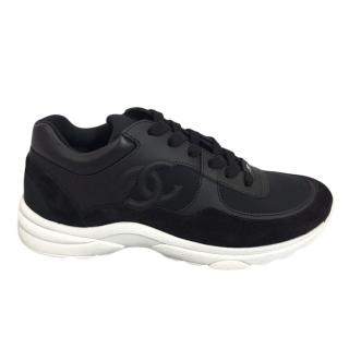 Chanel Black CC Sneakers