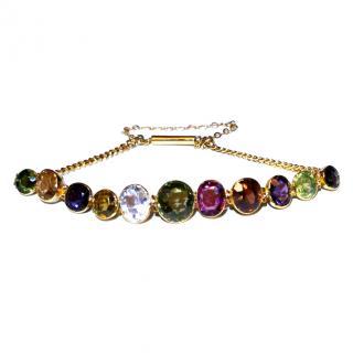 Bespoke Natural Gemstone Antique Harlequin Bracelet