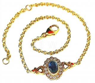 Bespoke Cluster Set Diamond & Ceylon Sapphire Braceler
