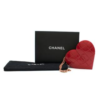 Chanel Red Chocolate Bar Heart Shaped Bag