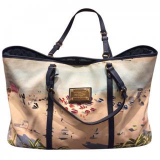 Louis Vuitton Printed Canvas Beach Bag