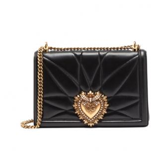 Dolce & Gabbana black leather Devotion bag