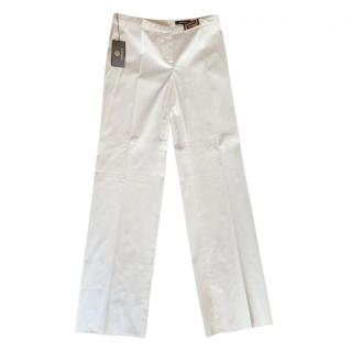 Versace White Straight Leg Pants