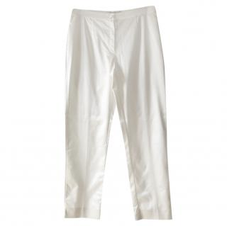 Marina Rinaldi White Straight Leg Pants