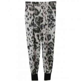 Stella McCartney Tie-Dye Leopard Print Joggers