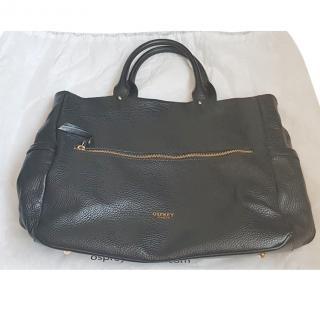 Osprey Black Leather Tote Bag