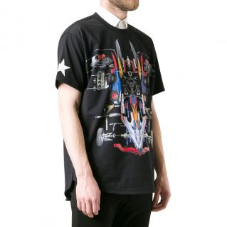 Givenchy Black Racing Print T-Shirt